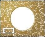 Рамка 4/5 модулей Legrand Celiane Фарфор-золотая феерия