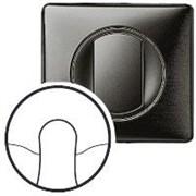 Лицевая панель для вывода кабеля, Legrand Celiane цвет: графит