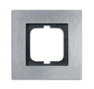 Рамка 1-пост, ABB carat® цвет сталь