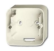 Коробка для открытого монтажа, 1 пост, ABB alpha цвет слоновая кость