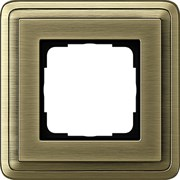 Рамка Gira ClassiX одноместная Бронза 0211621