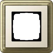 Рамка Gira ClassiX одноместная Бронза-кремовый 0211623