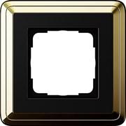 Рамка Gira ClassiX одноместная Латунь-Чёрный 0211632