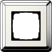 Рамка Gira ClassiX одноместная Хром-кремовый 0211643