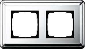 Рамка Gira ClassiX двухместная Хром 0212641