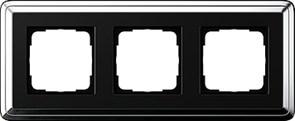 Рамка Gira ClassiX трехместная Хром-Чёрный 0213642