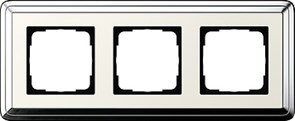 Рамка Gira ClassiX трехместная Хром-кремовый 0213643