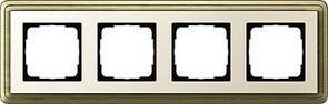 Рамка Gira ClassiX четырехместная Бронза-кремовый 0214623