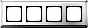 Рамка Gira ClassiX четырехместная Хром 0214641