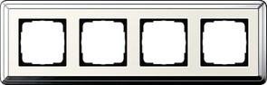 Рамка Gira ClassiX четырехместная Хром-кремовый 0214643