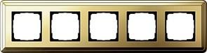 Рамка Gira ClassiX пятиместная Латунь 0215631