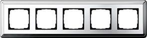 Рамка Gira ClassiX пятиместная Хром 0215641