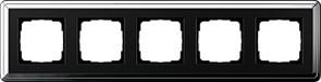 Рамка Gira ClassiX пятиместная Хром-Чёрный 0215642
