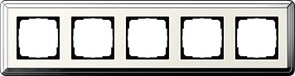 Рамка Gira ClassiX пятиместная Хром-кремовый 0215643