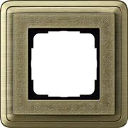 Рамка Gira ClassiX Art одноместная Бронза 0211661