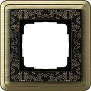 Рамка Gira ClassiX Art одноместная Бронза-Чёрный 0211662
