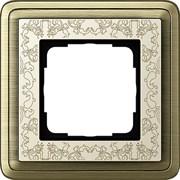 Рамка Gira ClassiX Art одноместная Бронза-кремовый 0211663