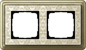 Рамка Gira ClassiX Art двухместная Бронза-кремовый 0212663