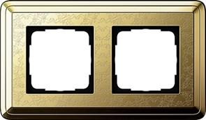 Рамка Gira ClassiX Art двухместная Латунь 0212671