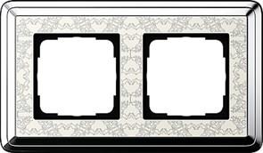 Рамка Gira ClassiX Art двухместная Хром-кремовый 0212683