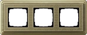 Рамка Gira ClassiX Art трехместная Бронза 0213661