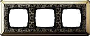 Рамка Gira ClassiX Art трехместная Латунь-Чёрный 0213672