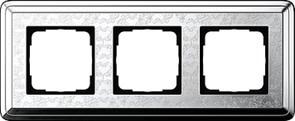 Рамка Gira ClassiX Art трехместная Хром 0213681