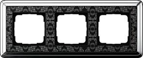 Рамка Gira ClassiX Art трехместная Хром-Чёрный 0213682