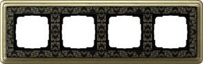 Рамка Gira ClassiX Art четырехместная Бронза-Чёрный 0214662