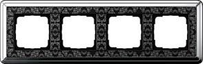 Рамка Gira ClassiX Art четырехместная Хром-Чёрный 0214682