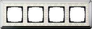 Рамка Gira ClassiX Art четырехместная Хром-кремовый 0214683