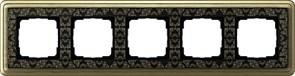 Рамка Gira ClassiX Art пятиместная Бронза-Чёрный