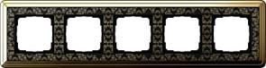 Рамка Gira ClassiX Art пятиместная Латунь-Чёрный 0215672