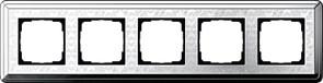Рамка Gira ClassiX Art пятиместная Хром 0215681