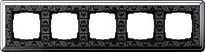 Рамка Gira ClassiX Art пятиместная Хром-Чёрный 0215682