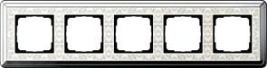 Рамка Gira ClassiX Art пятиместная Хром-кремовый 0215683