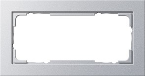 Установочные рамки без серединной перемычки, обладающие повышенной прочностью двухместные Gira E2 Алюминий