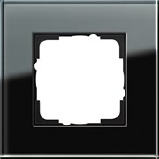 Рамка 1-пост, Gira Esprit Черное стекло