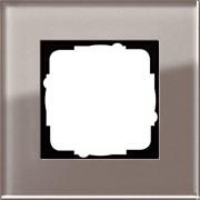 Рамка 1-пост, Gira Esprit Дымчатое стекло