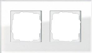 Рамка 2-пост, Gira Esprit Белое стекло