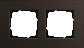 Рамка 2-пост, Gira Esprit Алюминий коричневого цвета