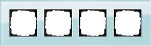 Рамка 4-пост, Gira Esprit Салатовое стекло