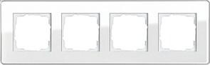 Рамка 4-пост, Gira Esprit Glass C белое стекло 0214512