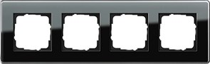 Рамка 4-пост, Gira Esprit Glass C черное стекло 0214505