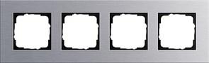 Рамка 4-пост, Gira Esprit Алюминий 021417