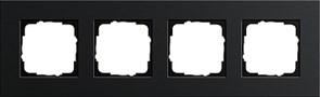 Рамка 4-пост, Gira Esprit Алюминий черного цвета 0214126