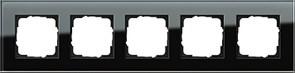 Рамка 5-пост, Gira Esprit Черное стекло 021505