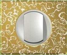Рамка одноместная Legrand Celiane Фарфор-золотая феерия