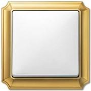 Рамкa 1-пост, Merten Antique, цвет: блестящая латунь