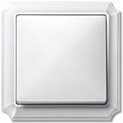 Рамкa 1-пост, Merten Antique, цвет: полярно-белый